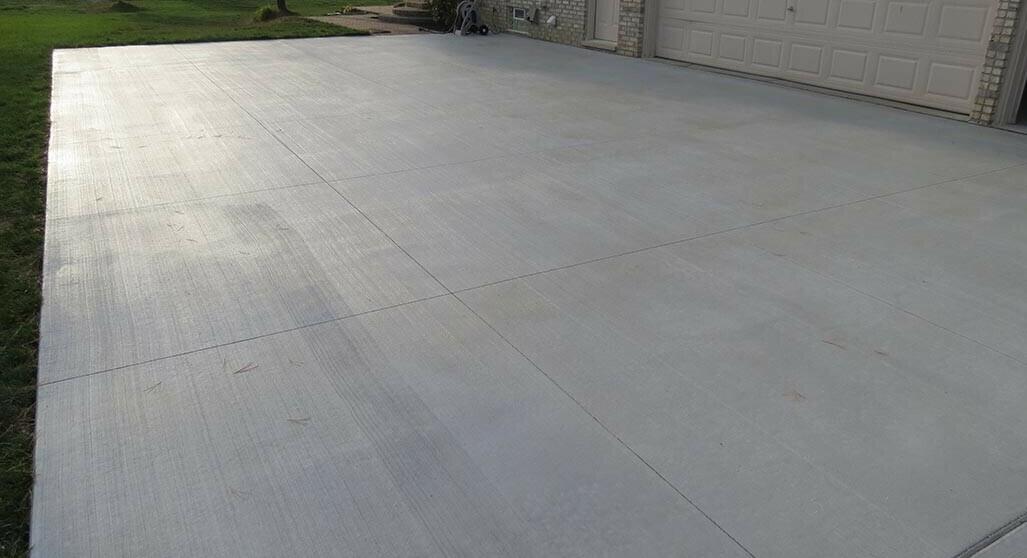 New Concrete Driveway cement driveway Pros Of A Cement Driveway Canton Complete 15 e1577476215801