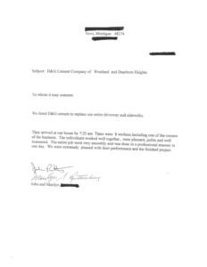D&G Cement Co Testimonials testimonials Testimonials D G Testimonials Page 3 232x300