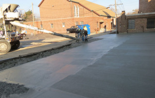 New Concrete Parking Lot