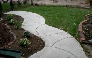 New Stamped Concrete Walkway