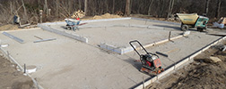 Foundation Preparation cement Services garages