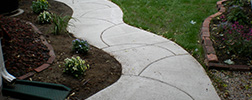 New Stamped Concrete Walkway cement Services walkways