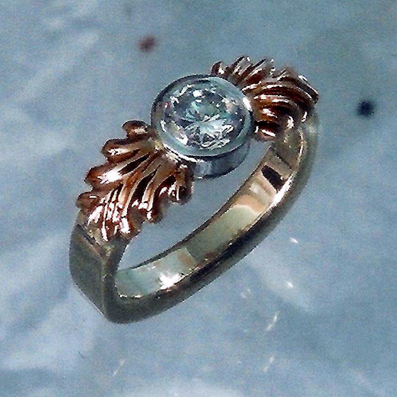 14 Karat Rose & Yellow Gold 0.50 ct Diamond