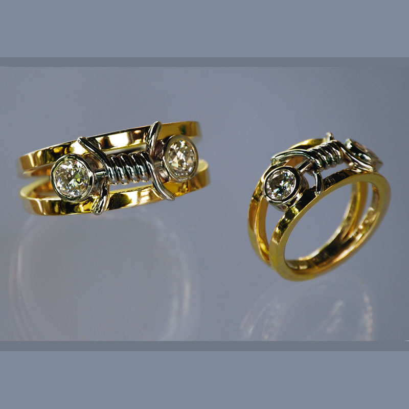 Barbed Wire Wedding Bands