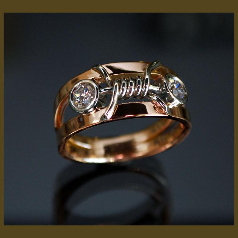 Gentlemans 18 karat rose gold diamond2