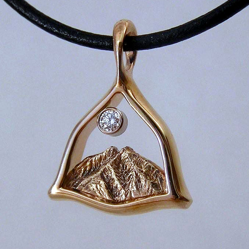 Twin Peaks - Mount Sopris Custom Designed Pendant