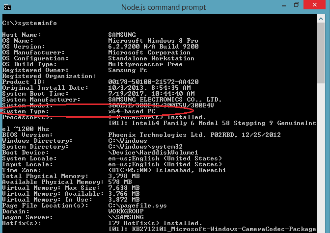 How to install NodeJS on WIndows 8 - 64-bit cmd