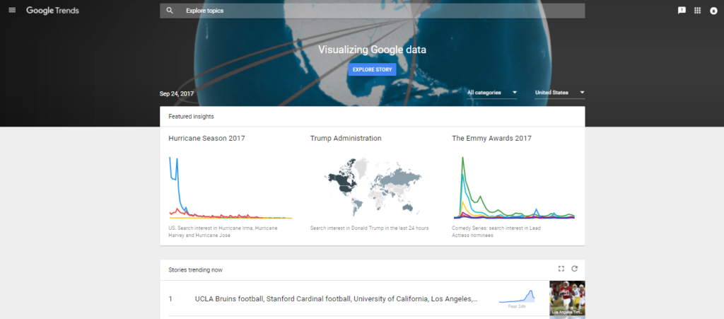 Google Trends - Check popularity of blog topic ideas