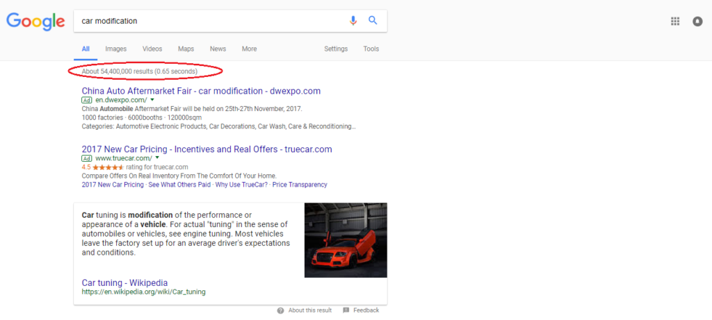 google search results - popular blog topic ideas