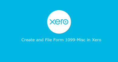 File Xero 1099 Misc Form
