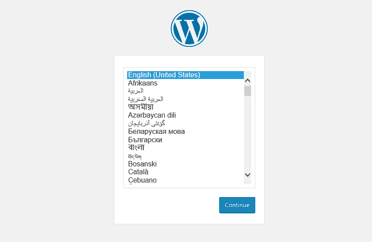 Wordpress Configuration Select Language