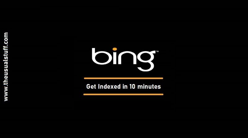 Bing URL Indexing API - Get Indexed in 10 minutes