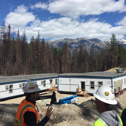 remote mining project cascade mountains