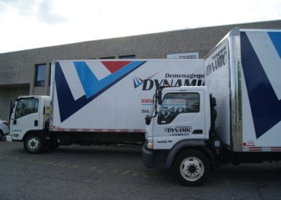 Dynamic Montreal Movers Ware house and vehicles