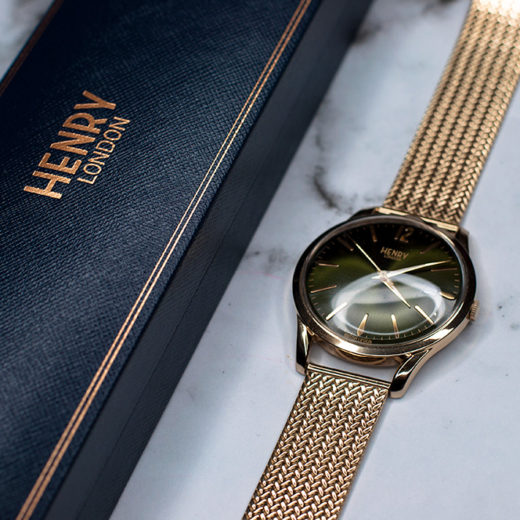 Henry London Chiswick Green 38mm