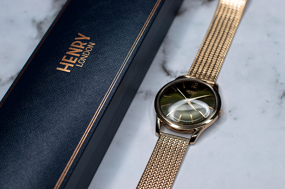 Henry London Chiswick Green 38mm