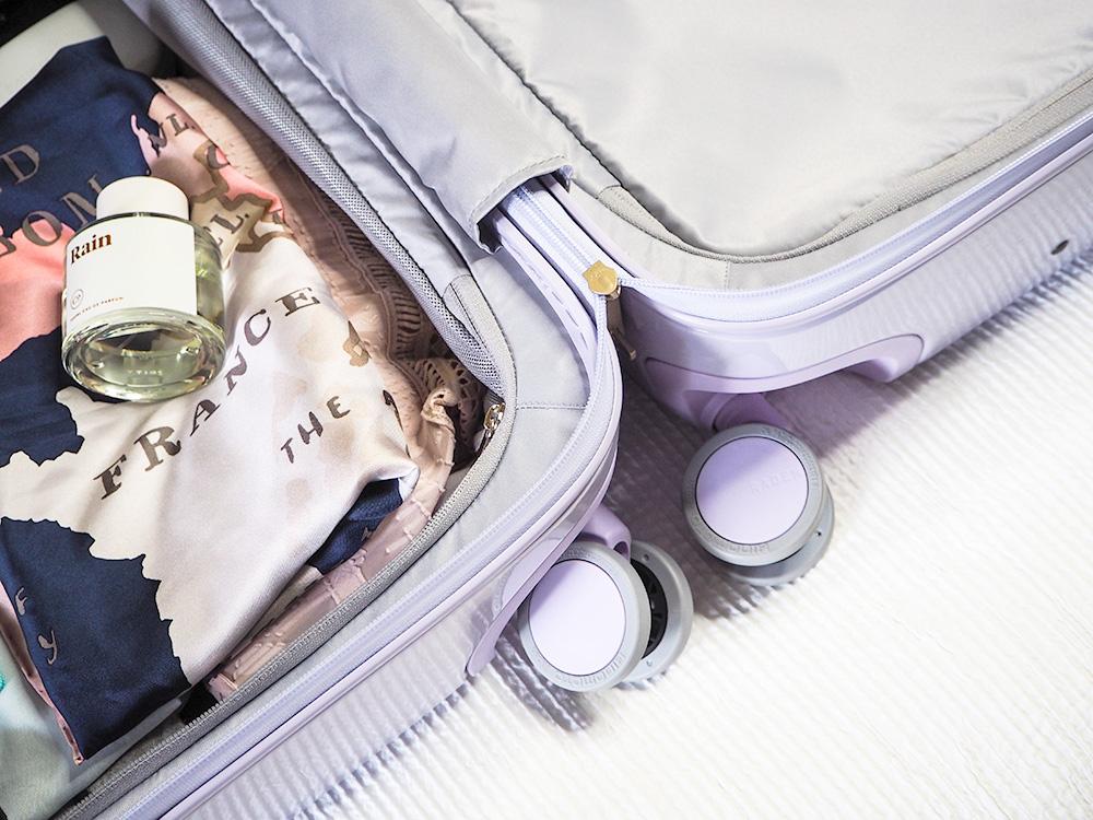 Raden Luggage: The A28 Check Smart Suitcase via Sarenabee.com