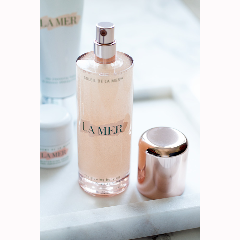 La Mer Limited Edition Glowing Body Oil Review via Sarenabee.com