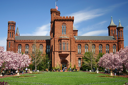 Wiener Museum Hero Image Smithsonian Castle In Spring
