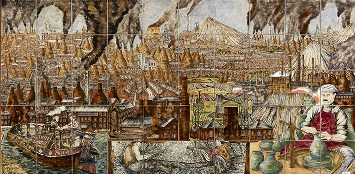 Wiener Museum Potteries Panel By Philip Gibson 2000
