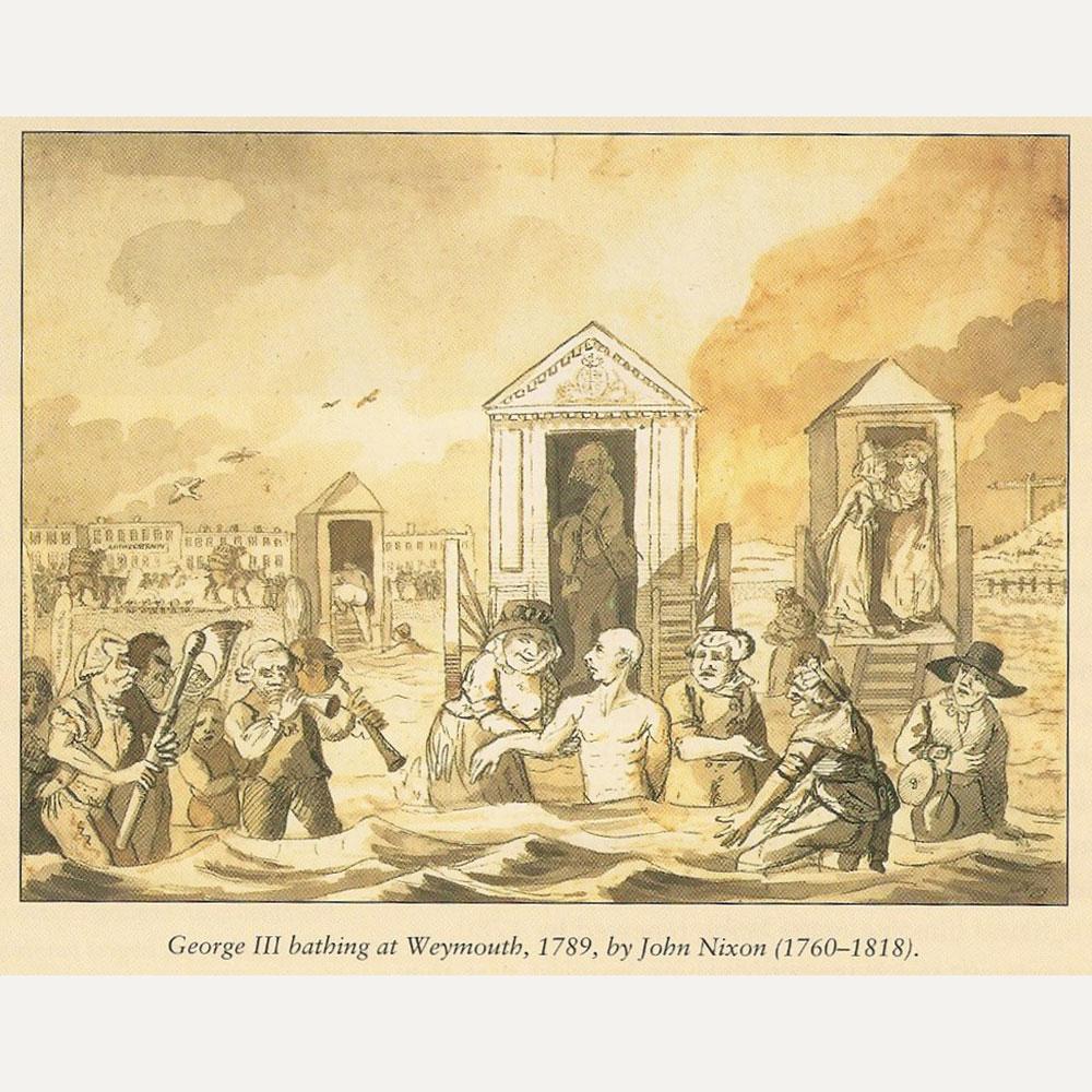Wiener Museum George III bathing Weymouth 1789 John Nixon