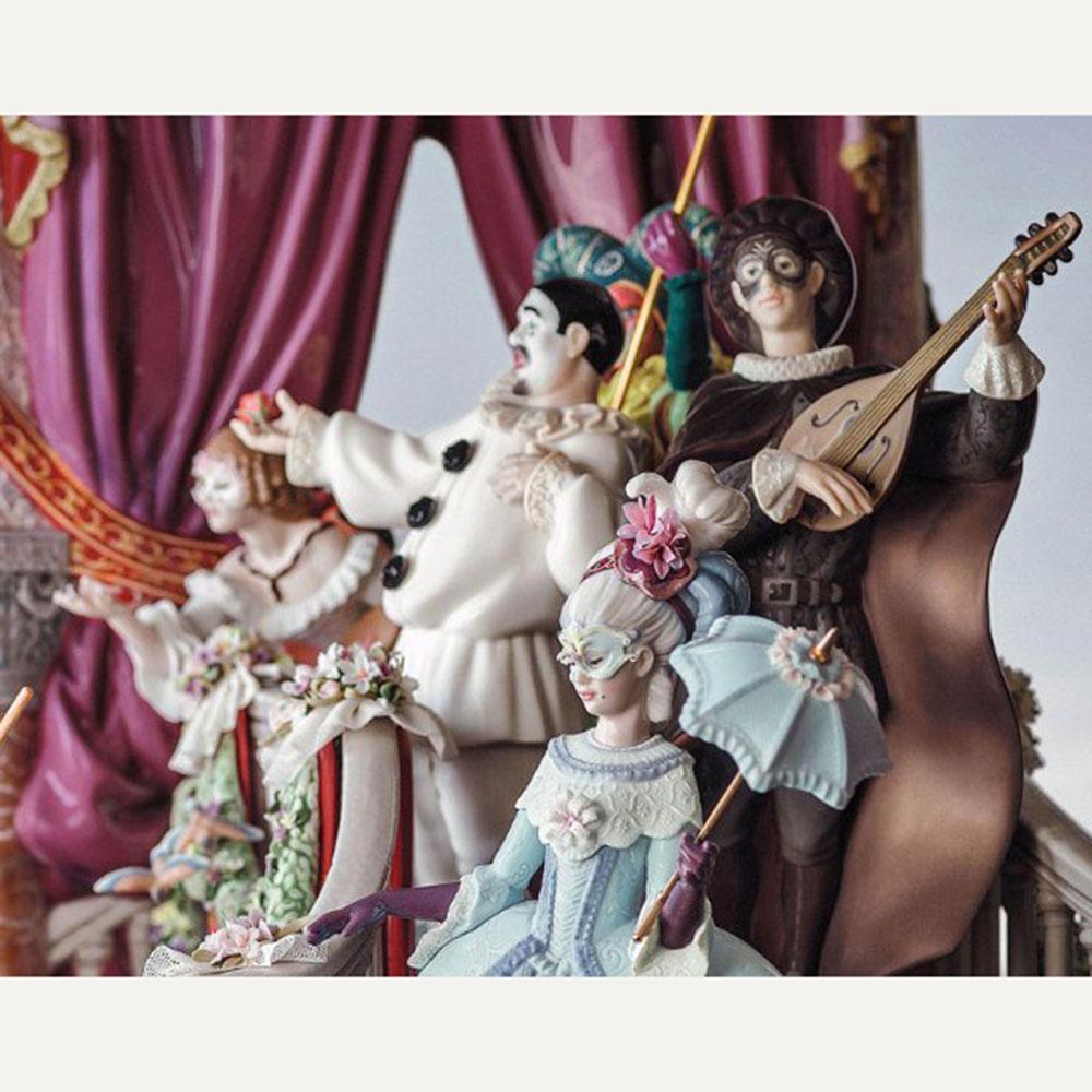 Carnival Venice Lladro Blue Lady Harlequin