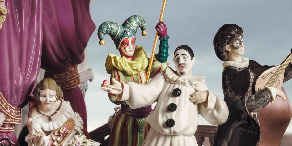 Wiener Museum Carnival Venice Lladro Musicians Colombina