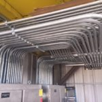 main power feeds and conduit