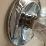 Polished shower faucet handle - photo gallery