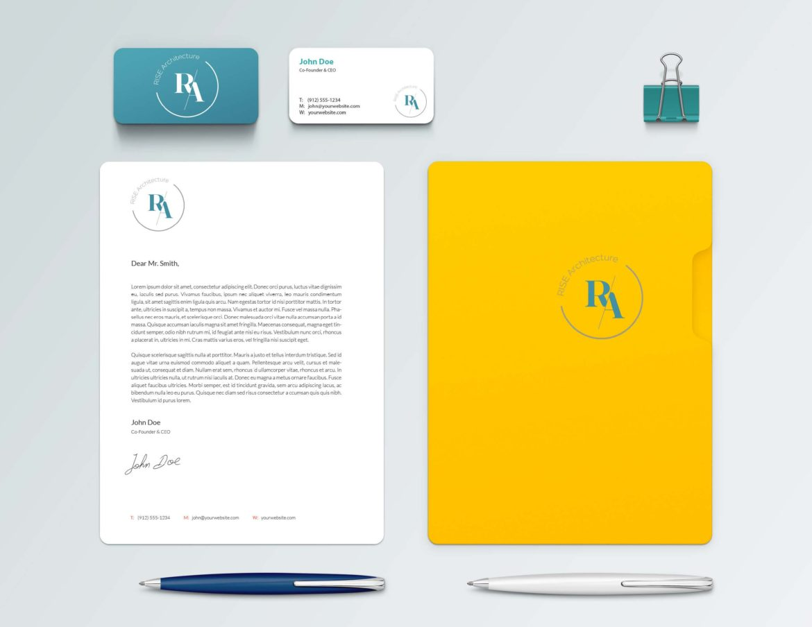 Rise Architecture Branding & Stationary