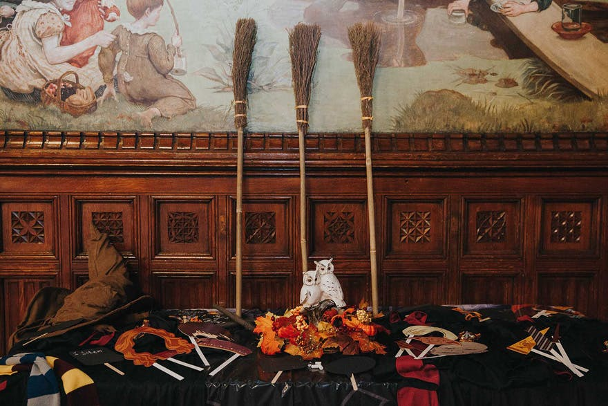 Harry Potter wedding photo booth in Houston Texas