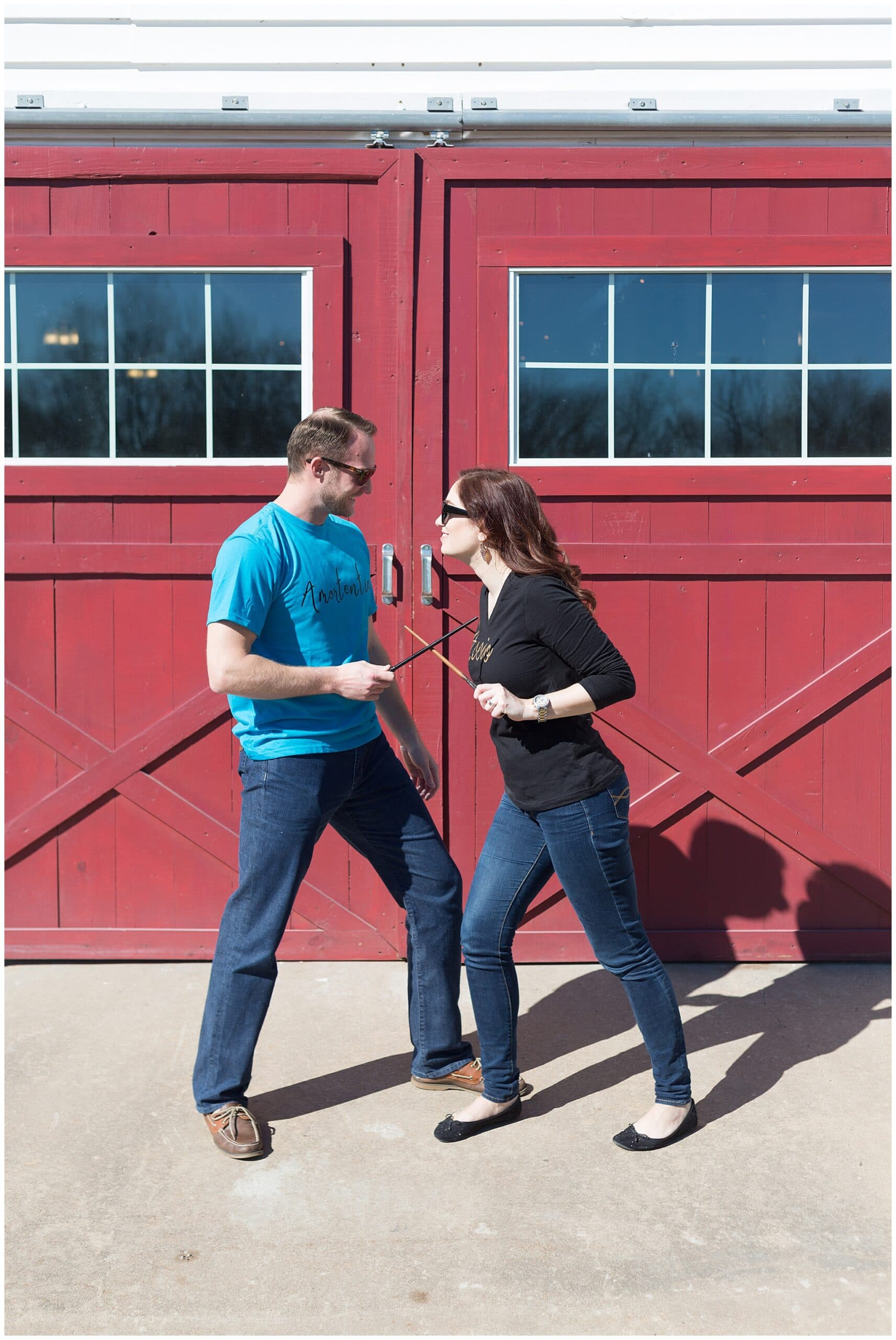 Harry Potter wedding photographer Swish and Click Photography capturing an engagement session at the Grand Texana Houston