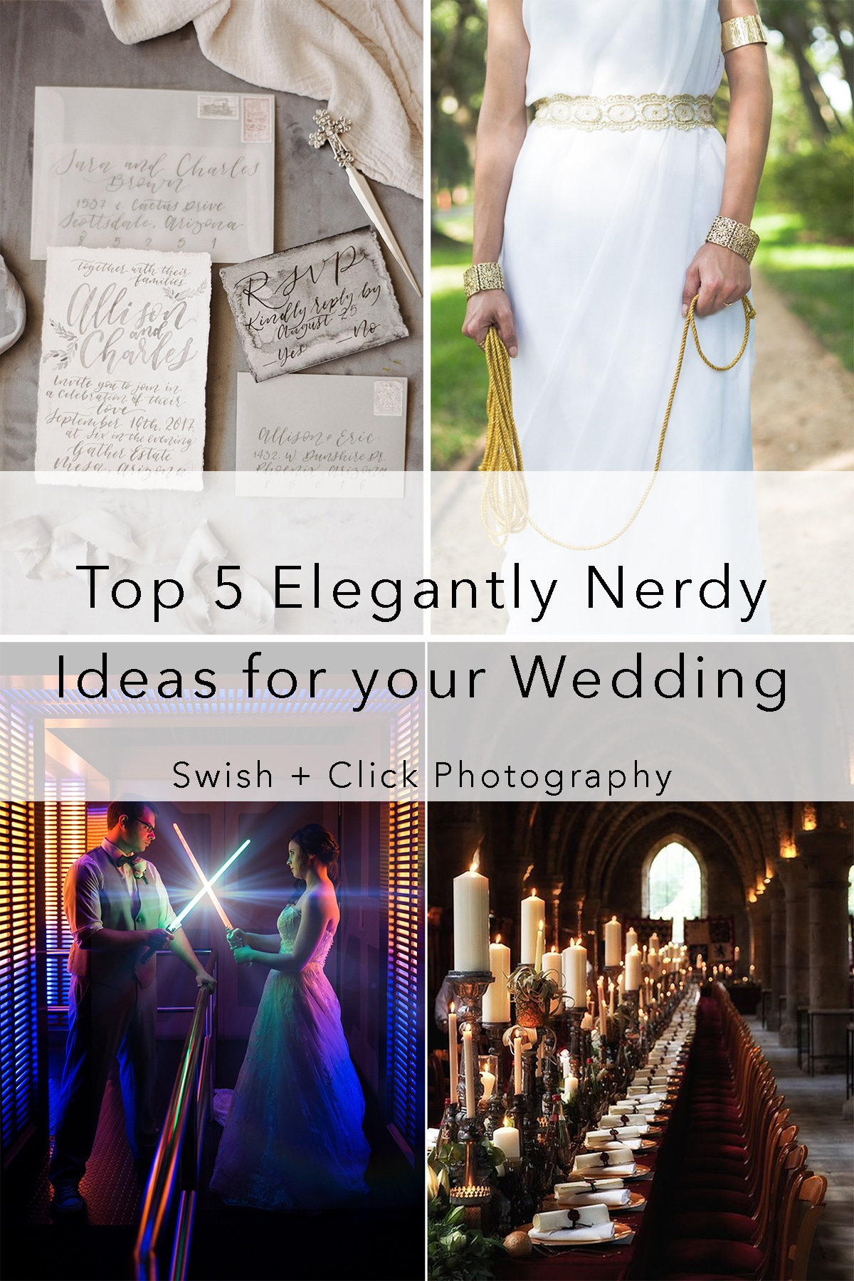Top 5 Elegantly Nerdy Themes for Your Wedding