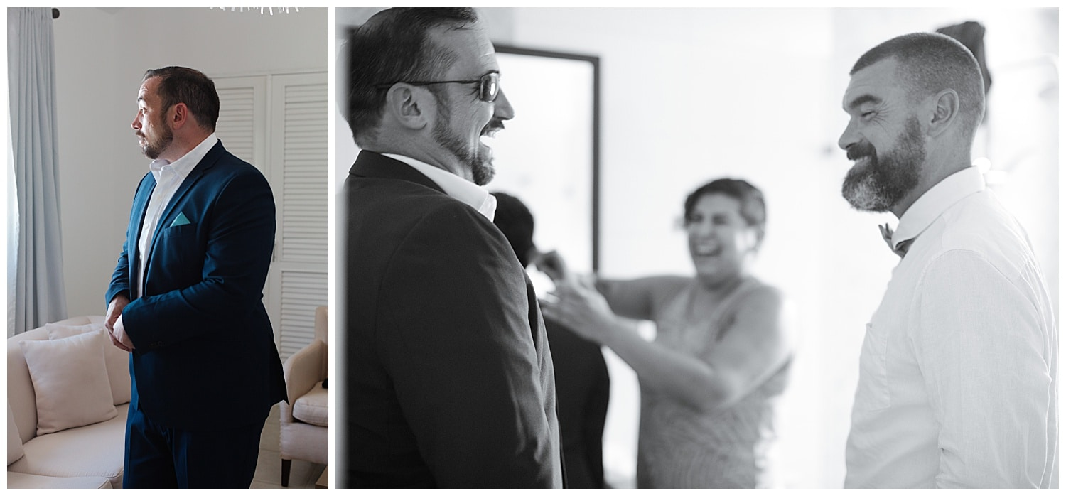groom getting ready at Villa Cocomar in the Dominican Republic by Swish and Click Photographer