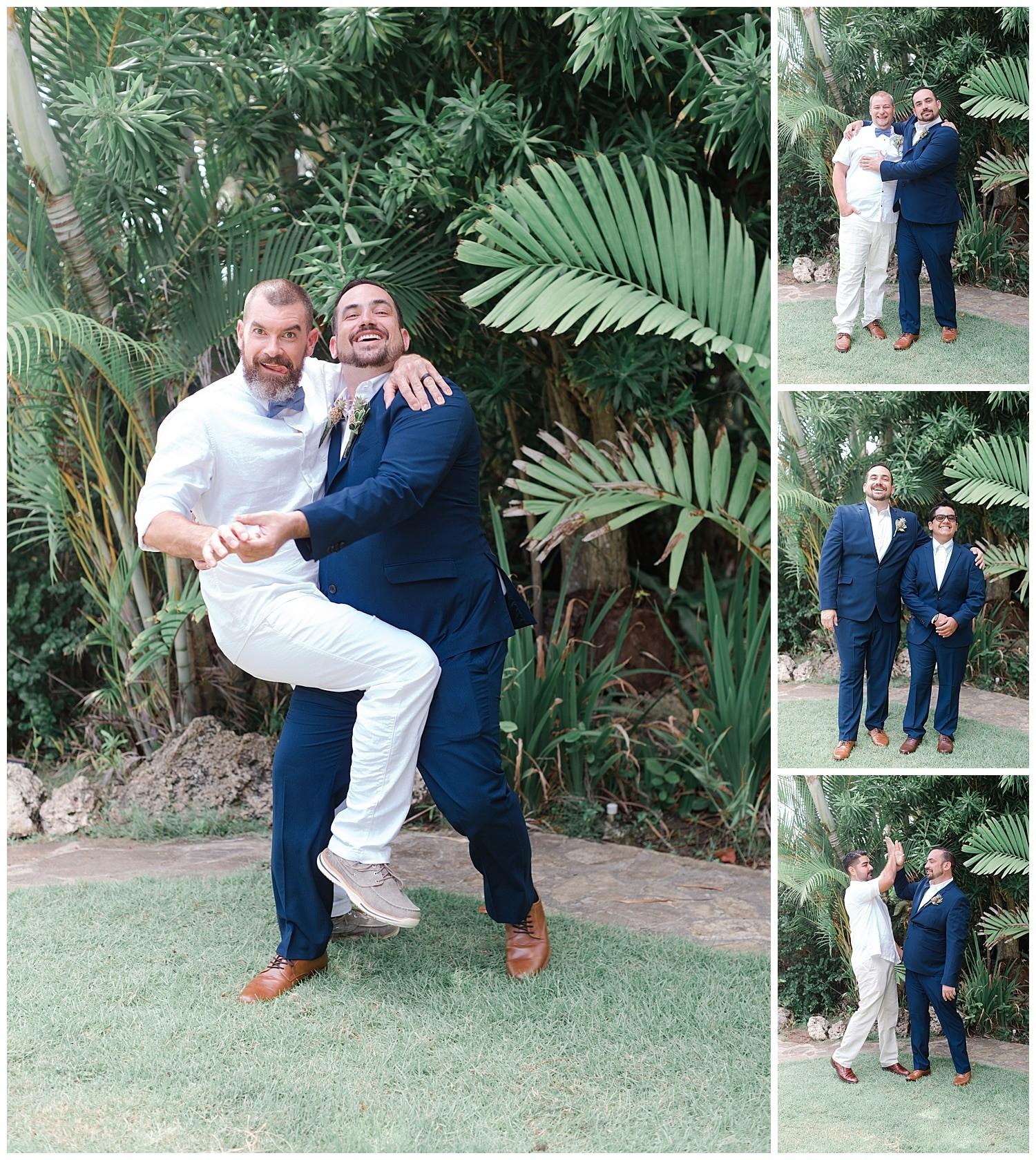 groom with groomsmen photos at Villa Cocomar in the Dominican Republic by Swish and Click Photographer