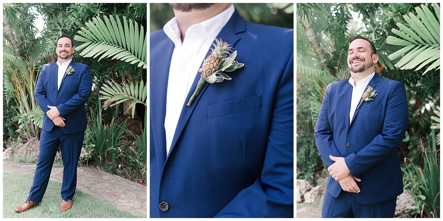 groom portraits at Villa Cocomar in the Dominican Republic by Swish and Click Photographer
