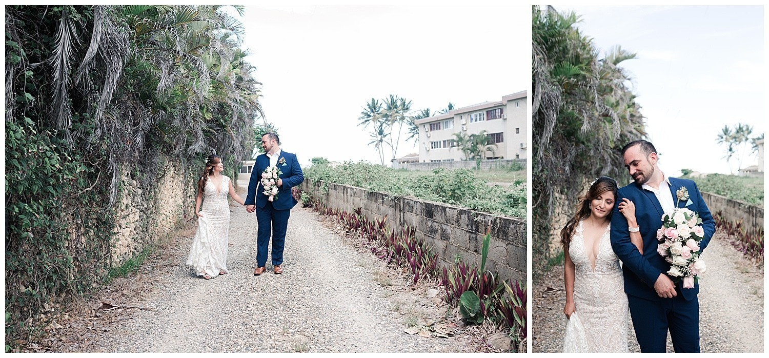 bride and groom wedding portraits at Villa Cocomar in the Dominican Republic by Swish and Click Photographer