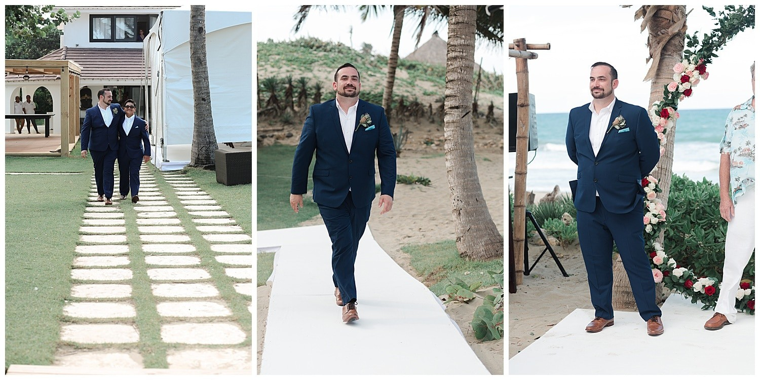wedding ceremony at Villa Cocomar in the Dominican Republic by Swish and Click Photographer