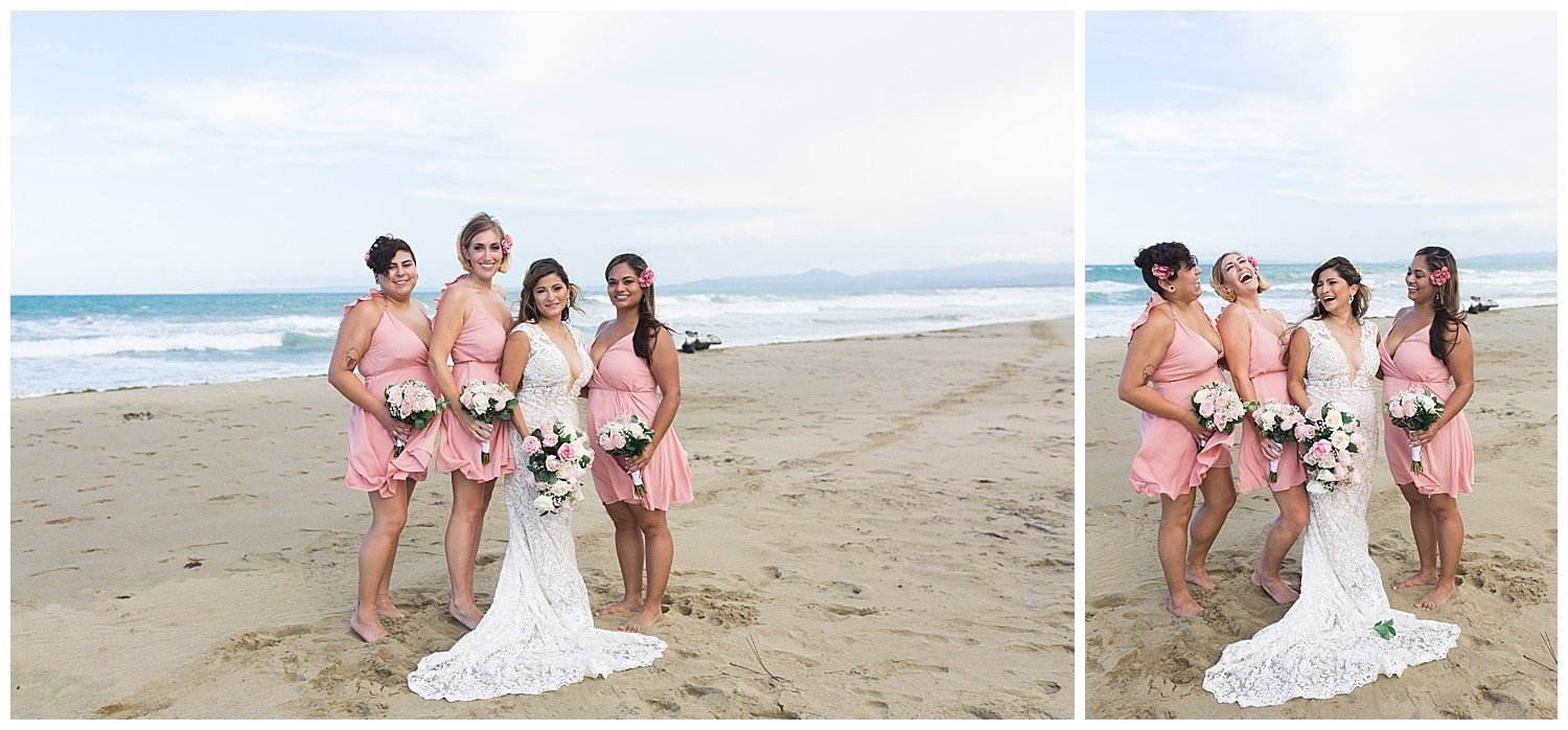 bridal party portraits at Villa Cocomar in the Dominican Republic by Swish and Click Photographer