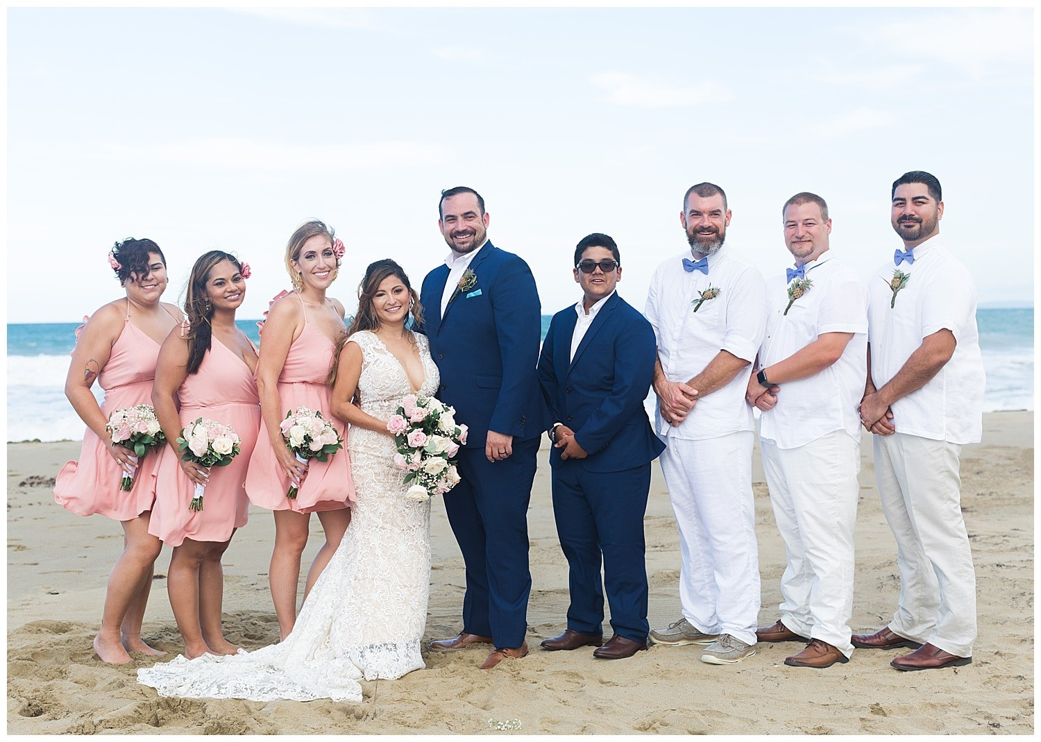 wedding party portraits at Villa Cocomar in the Dominican Republic by Swish and Click Photographer