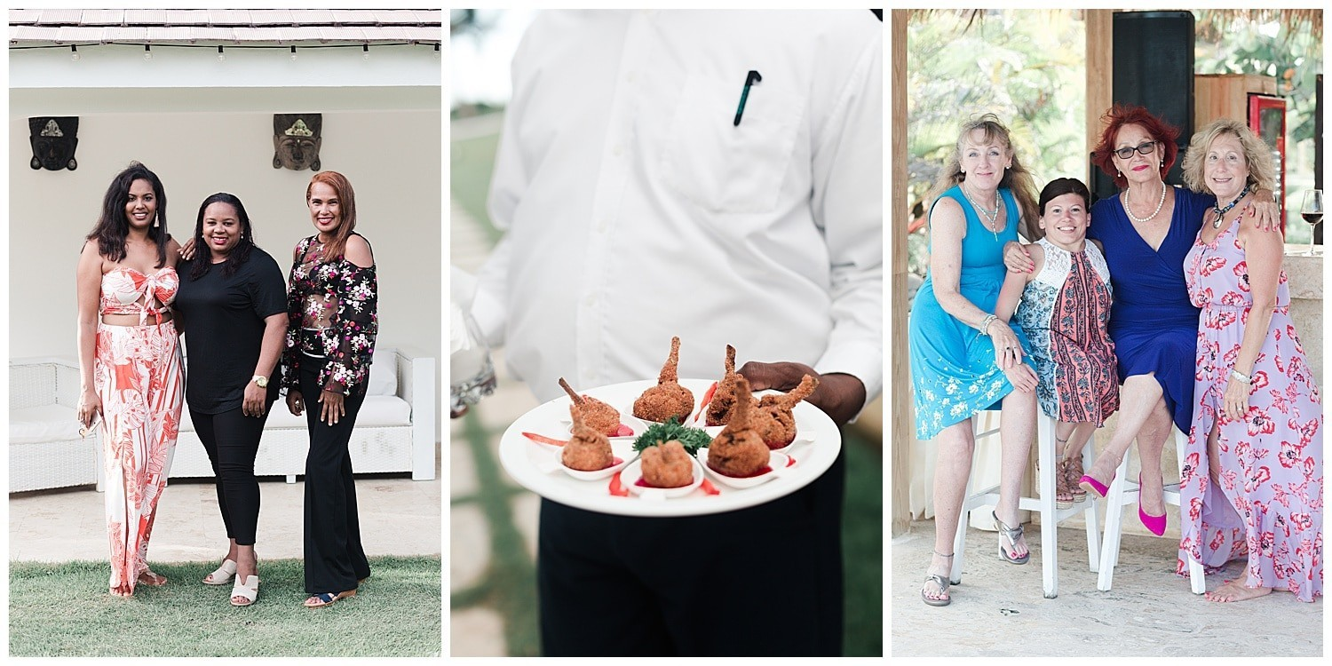 wedding cocktail hour at Villa Cocomar in the Dominican Republic by Swish and Click Photographer