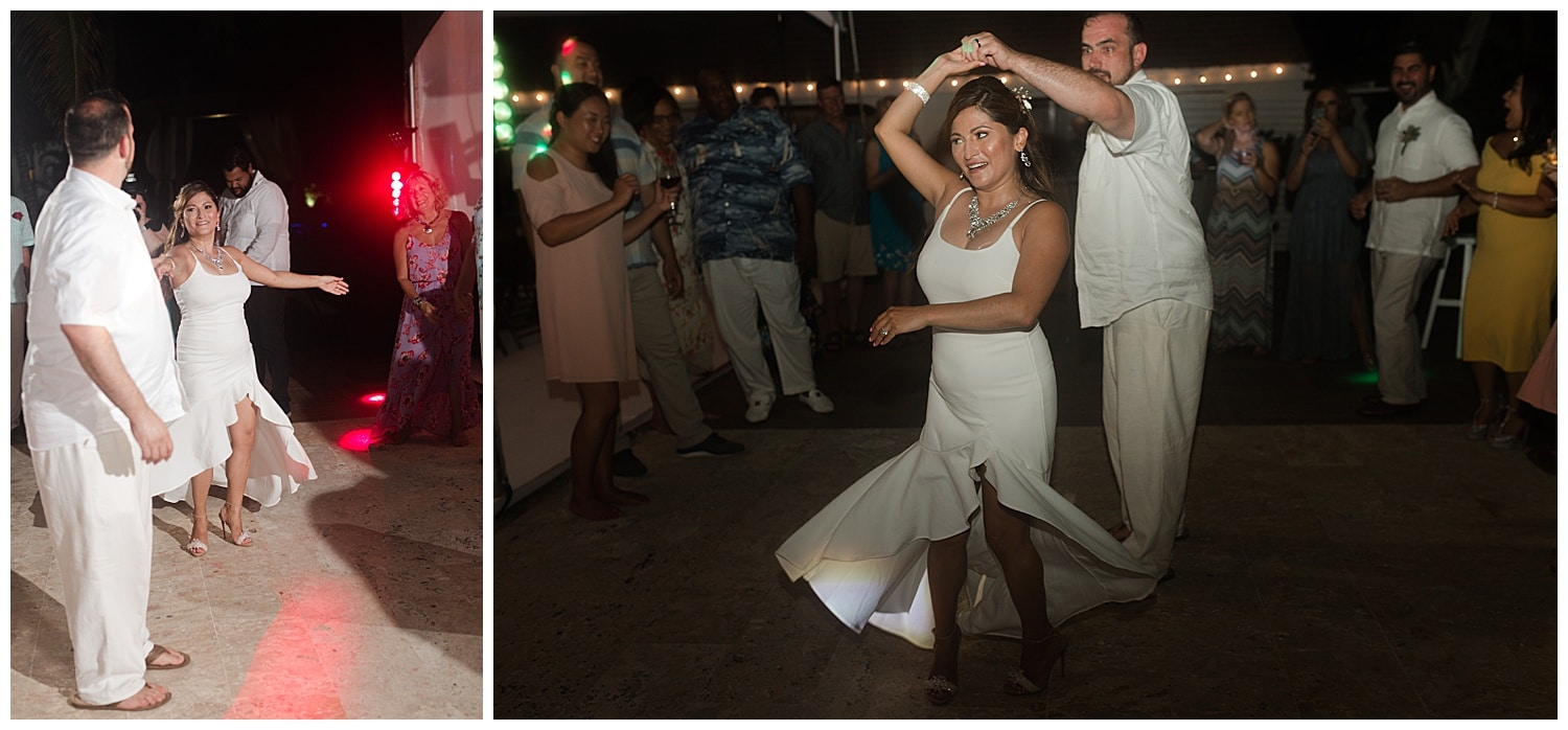 wedding reception at Villa Cocomar in the Dominican Republic by Swish and Click Photographer