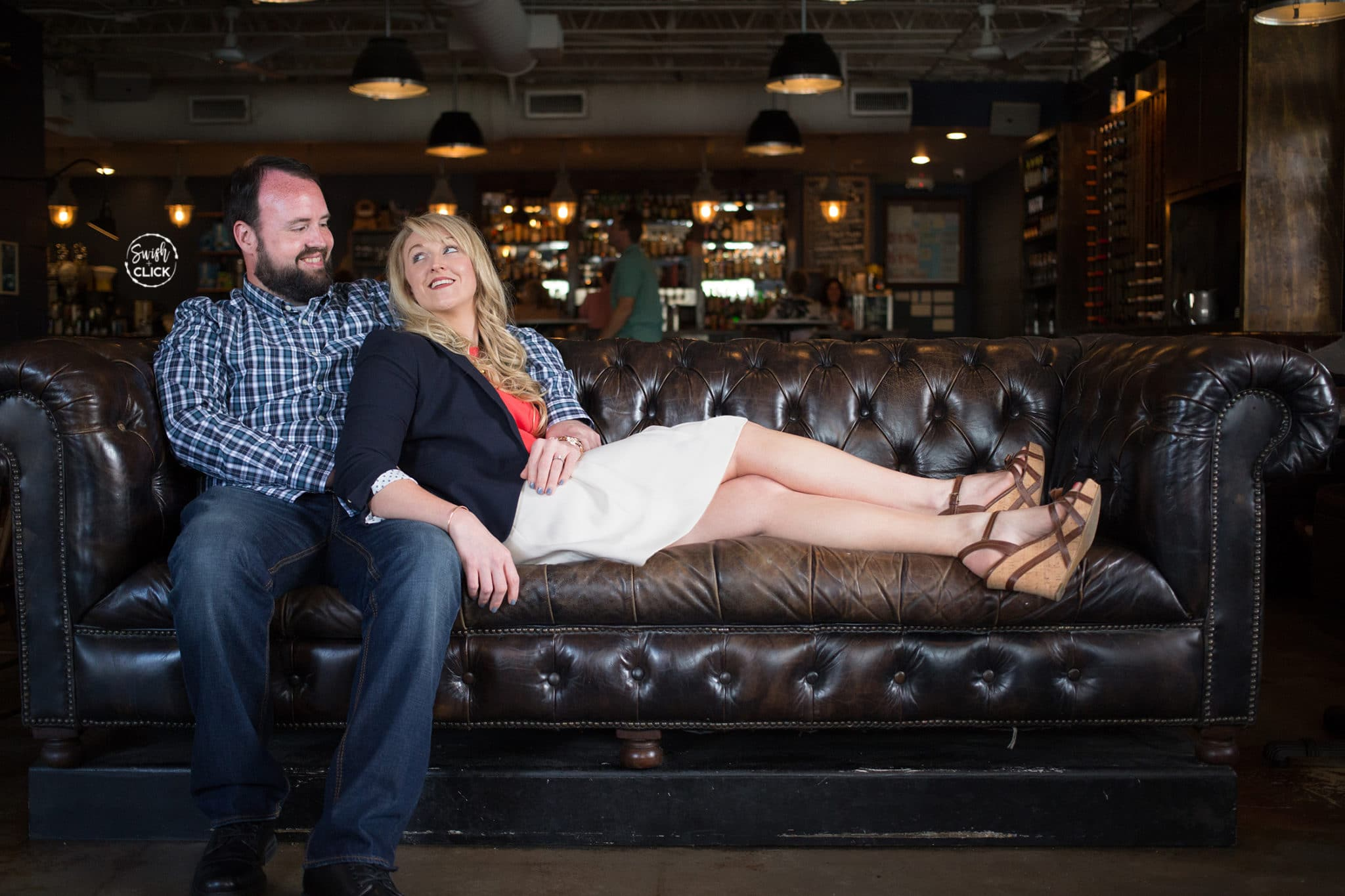 awesome engagement photos at DownHouse in Houston Texas by Swish and Click