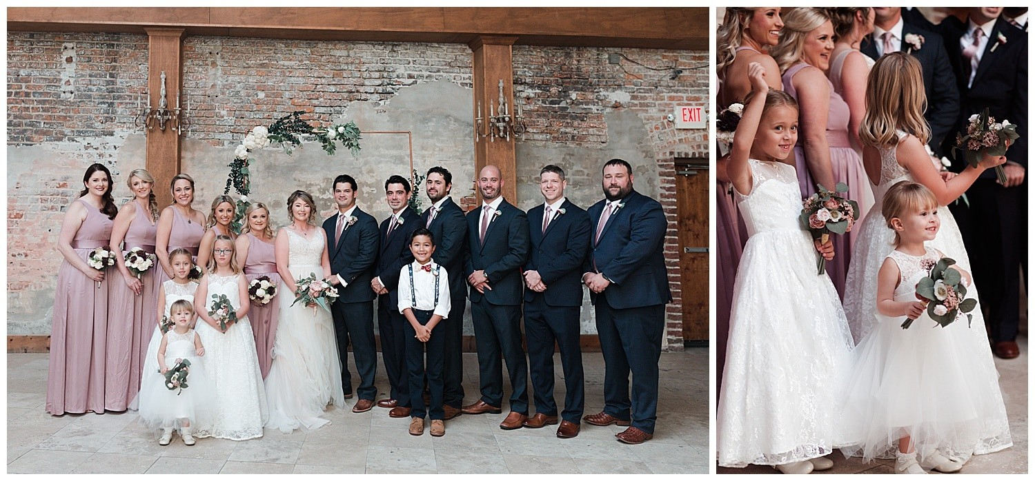 wedding party portraits at Thomas Bistro in New Orleans by Swish and Click Photography