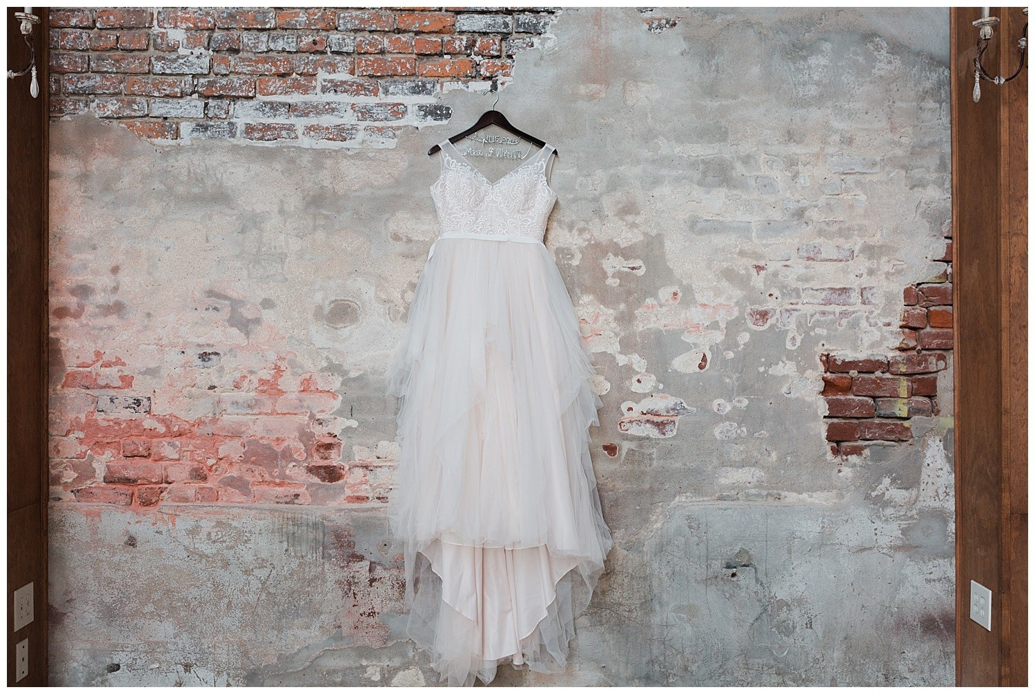 wedding gown at Thomas Bistro in New Orleans by Swish and Click Photography