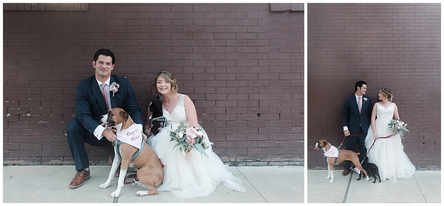 bride and groom portraits at Thomas Bistro in New Orleans by Swish and Click Photography