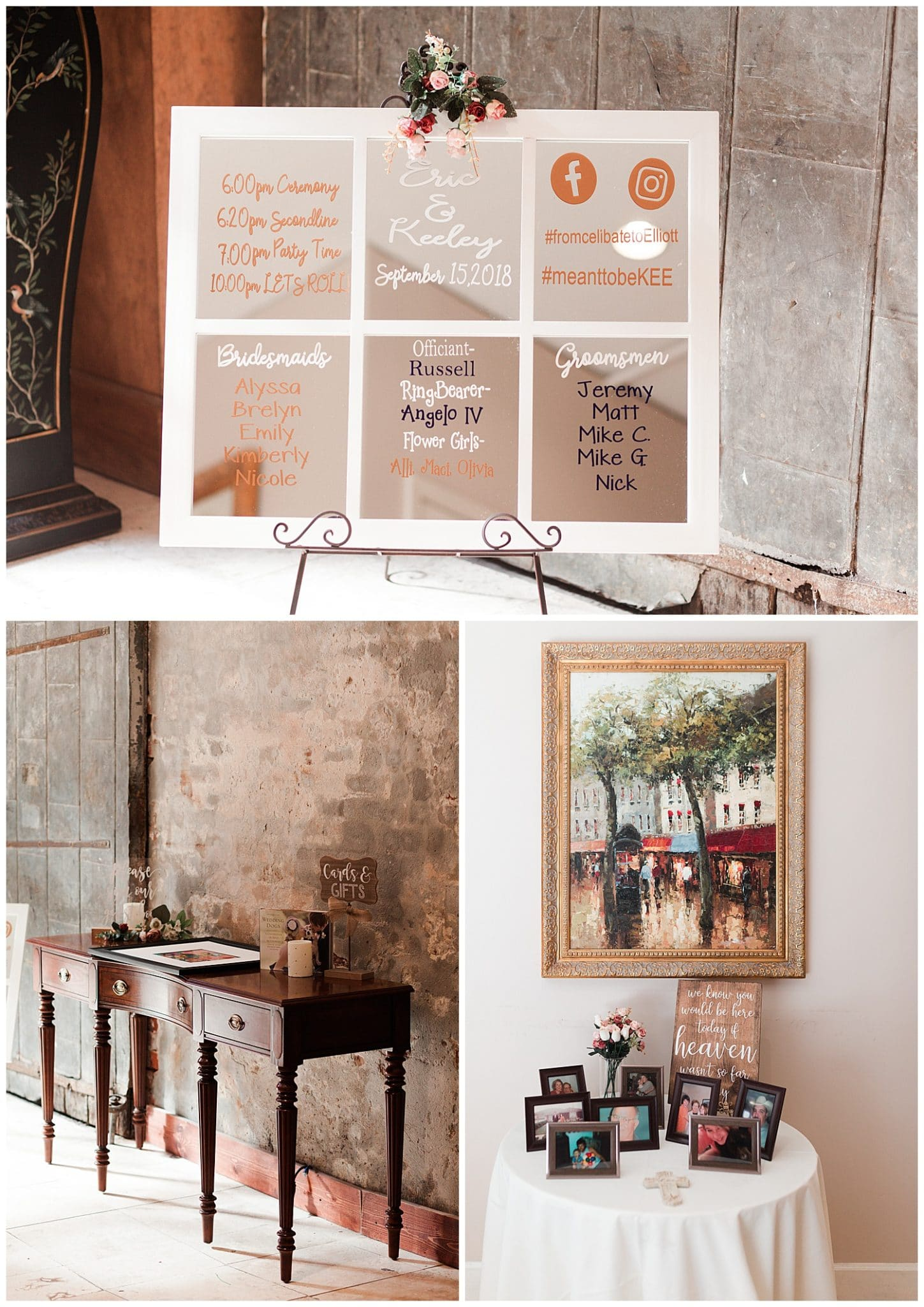 wedding ceremony details at Thomas Bistro in New Orleans by Swish and Click Photography