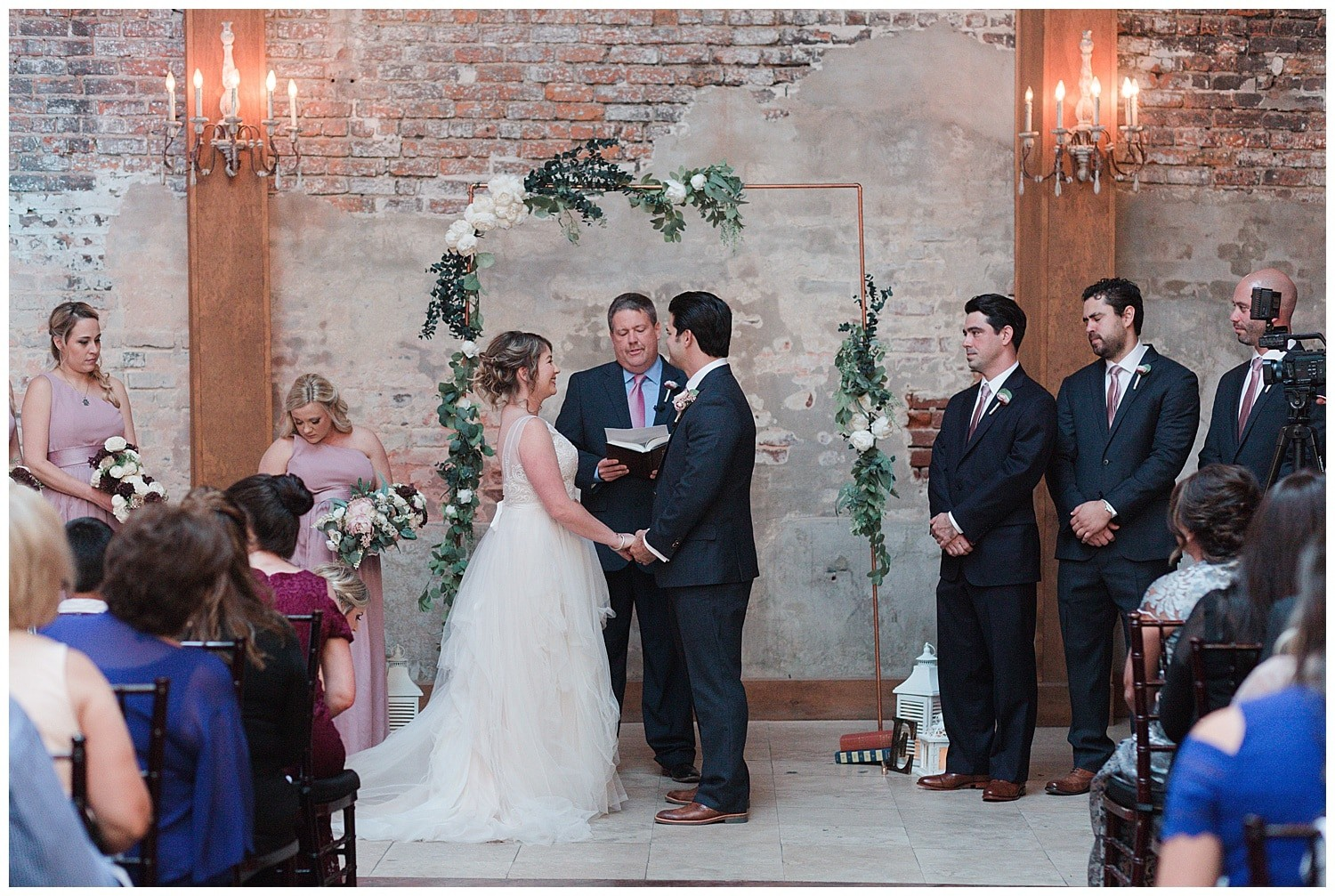 wedding ceremony at Thomas Bistro in New Orleans by Swish and Click Photography