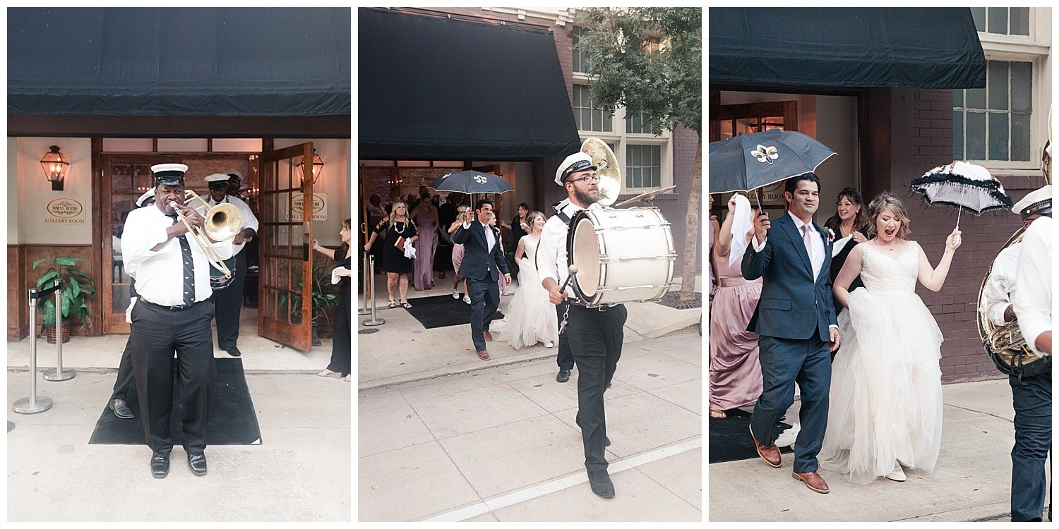 wedding first line at Thomas Bistro in New Orleans by Swish and Click Photography