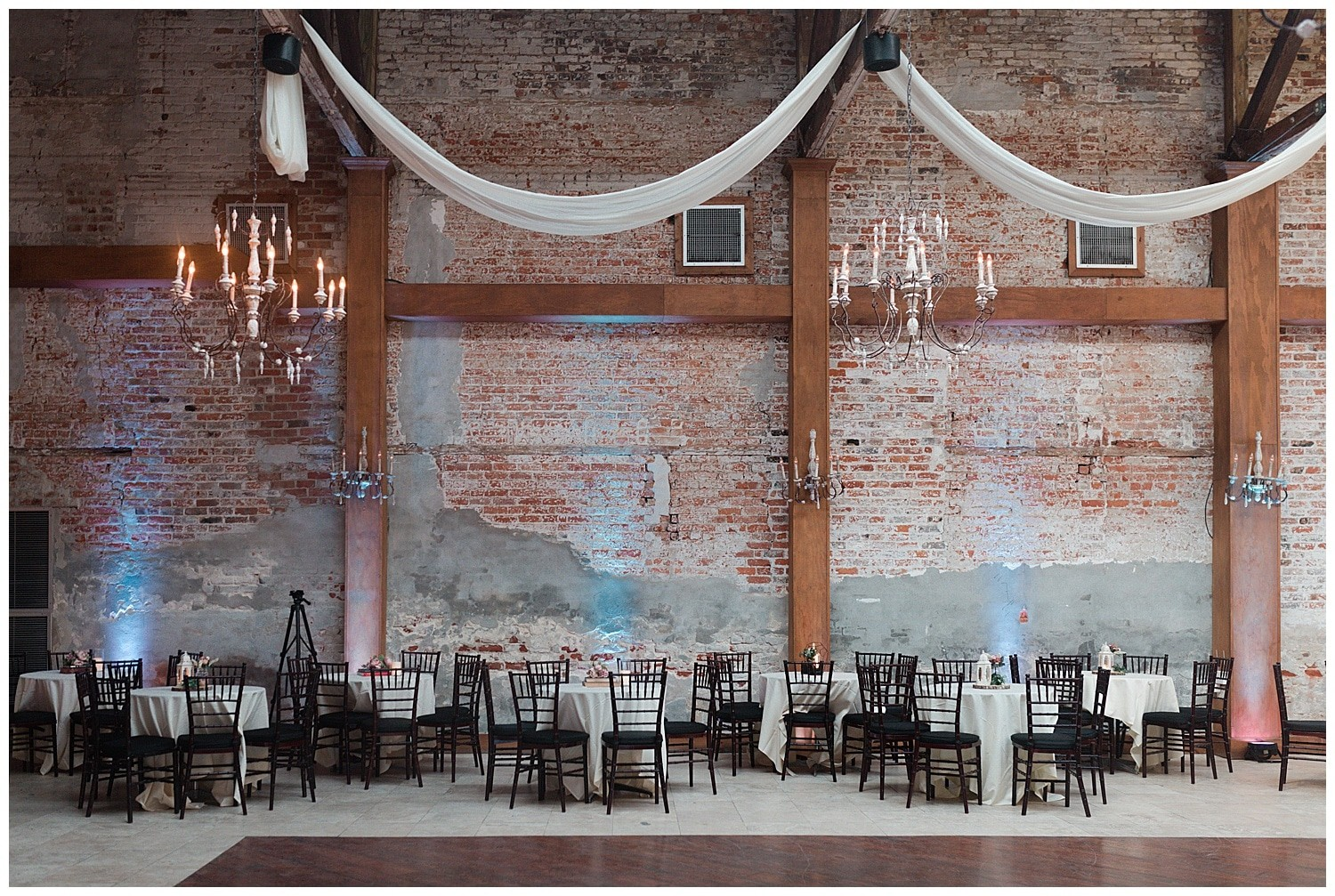 wedding reception details at Thomas Bistro in New Orleans by Swish and Click Photography